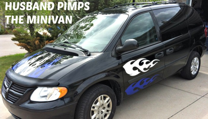 When your husband pimps the minivan